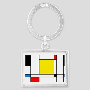 Mondrian Lines Landscape Keychain