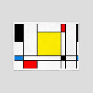 Mondrian Lines 5'x7'Area Rug