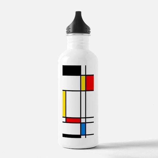 Mondrian Lines Water Bottle