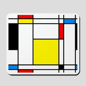 Mondrian Lines Mousepad