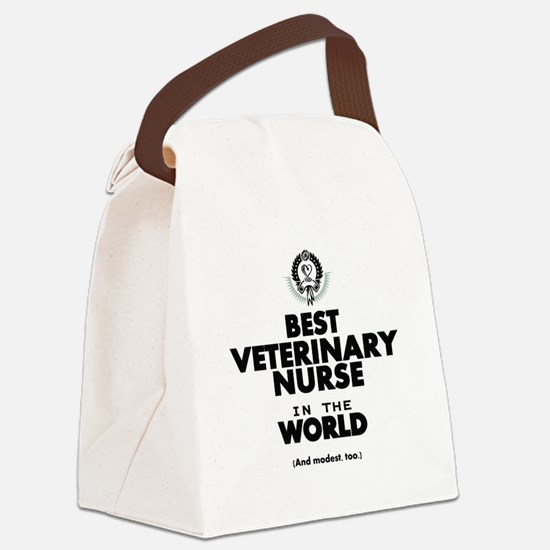 Best 2 Veterinary Nurse copy Canvas Lunch Bag