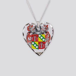 Egan Coat of Arms Necklace Heart Charm