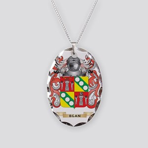 Egan Coat of Arms Necklace Oval Charm