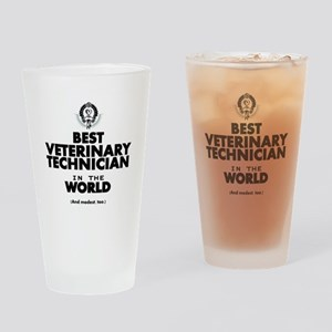 Best 2 Veterinary Technician copy Drinking Glass