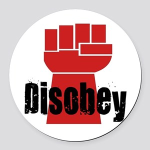 Disobey Round Car Magnet