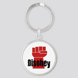 Disobey Round Keychain
