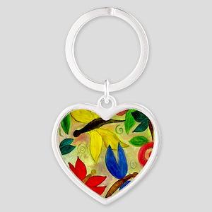Dragonflies Heart Keychain