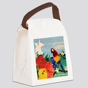 Parrot Garden Canvas Lunch Bag