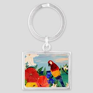 Parrot Garden Landscape Keychain