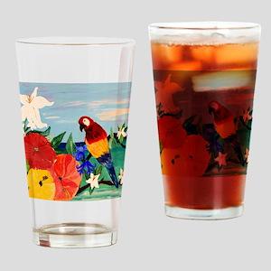 Parrot Garden Drinking Glass