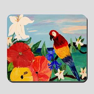 Parrot Garden Mousepad