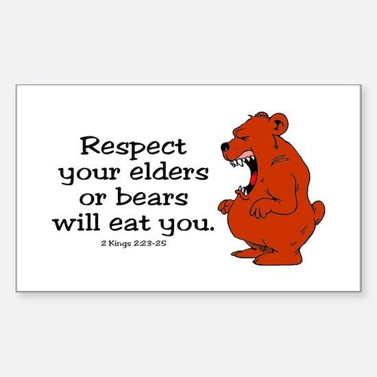 Respect Elders Rectangle Decal
