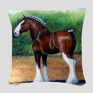 Clydesdale Draft Horse Woven Throw Pillow