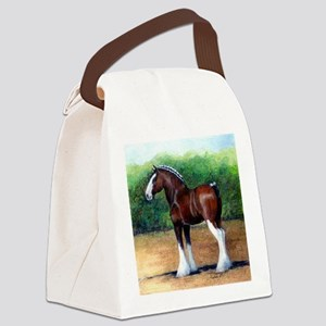 Clydesdale Draft Horse Canvas Lunch Bag