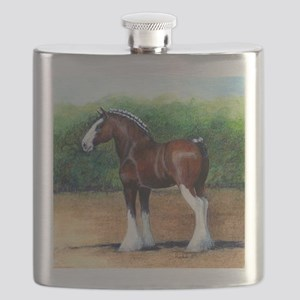 Clydesdale Draft Horse Flask