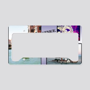 Views Of Venice Italy License Plate Holder