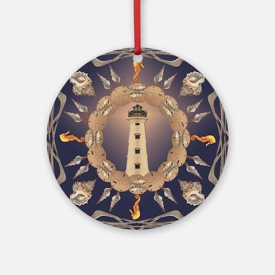 Lighthouse Round Ornament