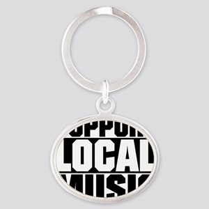 Support Local Music Oval Keychain