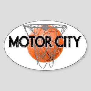 motor city basketball 2 Sticker (Oval)