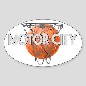 motor city basketball 2 dark Sticker (Oval)