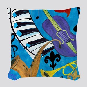 Jazz Woven Throw Pillow