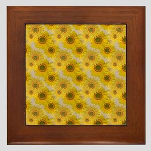 Sunflowers Framed Tile