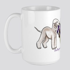 Bedlington Terriers with Ribbon Large Mug