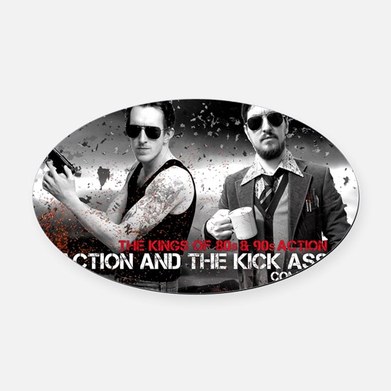 Doc and Kid Expendable Oval Car Magnet