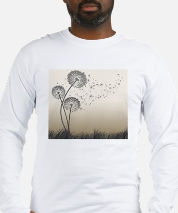 Dandelion Wishes Long Sleeve T-Shirt