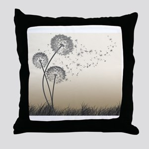 Dandelion Wishes Throw Pillow