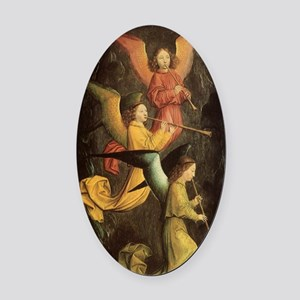 Choir of Angels by Marmion Oval Car Magnet