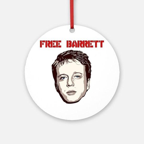 Free Barrett Brown Round Ornament