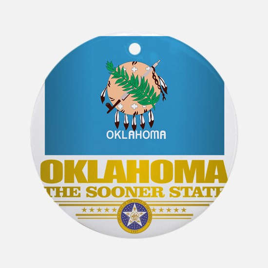 Oklahoma Flag Round Ornament