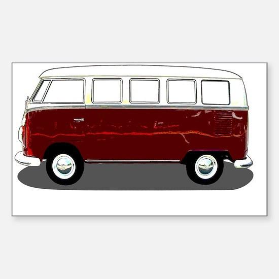 Hippy Bus Sticker (Rectangle)