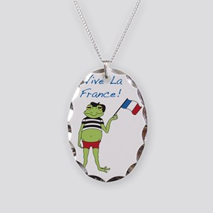 Viva La France Necklace Oval Charm