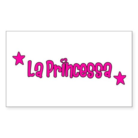 Princessa Adult Rectangle Sticker