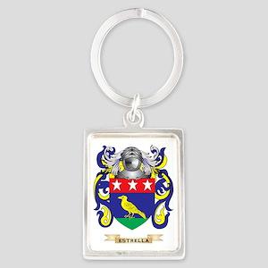 Estrella Coat of Arms Portrait Keychain