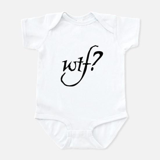 WTF? in script Infant Bodysuit