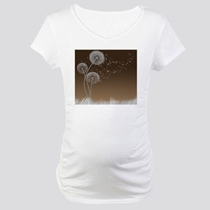 Dandelion Wishes Maternity T-Shirt