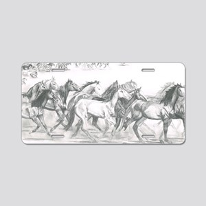 Running Horses Aluminum License Plate