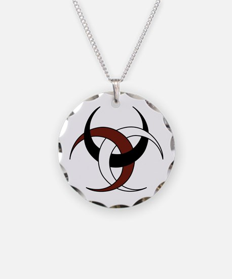 Triple Crescent Moon - Red,  Necklace