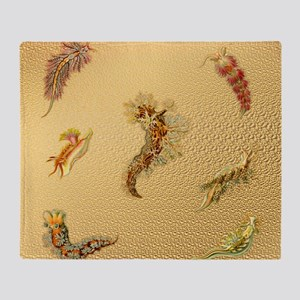 Haeckel Nudibranchia Throw Blanket