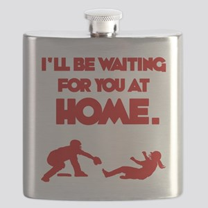 red Waiting Flask