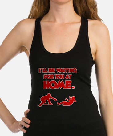 red Waiting Racerback Tank Top