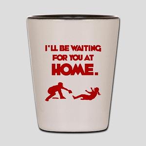 red Waiting Shot Glass