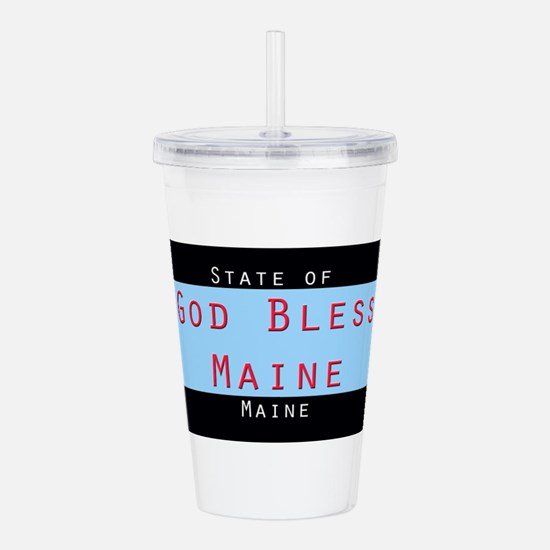 Maine God Bless Acrylic Double-wall Tumbler