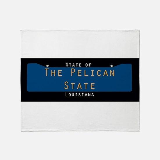 Louisiana Nickname #1 Throw Blanket