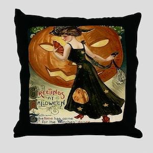 Victorian Halloween Throw Pillow
