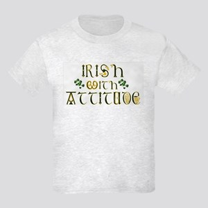 Irish With Attitude Kids Light T-Shirt