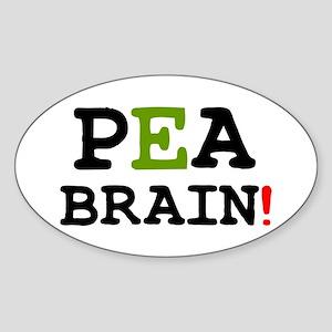PEABRAIN! Sticker (Oval)